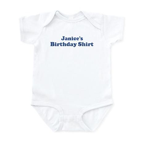 Janice birthday shirt Infant Bodysuit