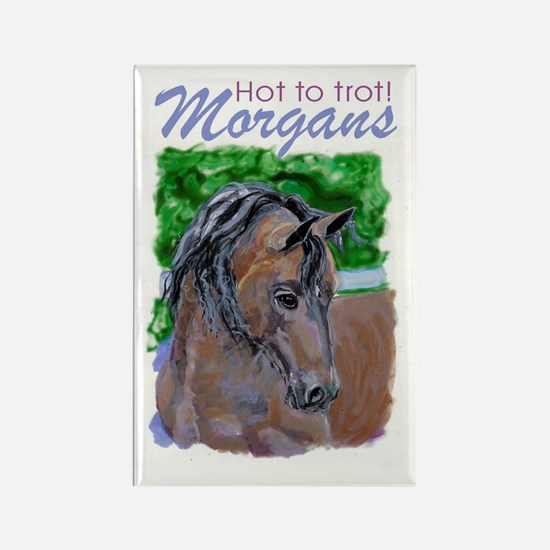 Morgan Horse Rectangle Magnet