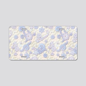 Lace Display Aluminum License Plate