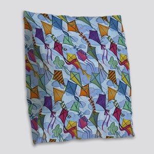 Kite Festival Burlap Throw Pillow