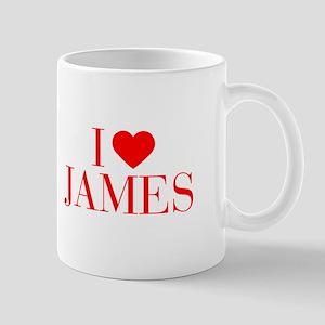 I love JAMES-Bau red 500 Mugs