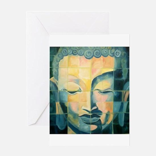 Tiled Buddha Greeting Card