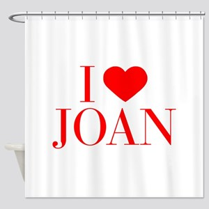 I love JOAN-Bau red 500 Shower Curtain