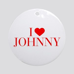 I love JOHNNY-Bau red 500 Ornament (Round)