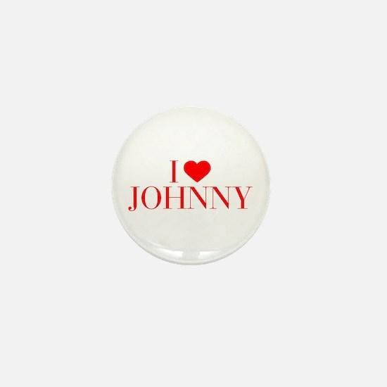 I love JOHNNY-Bau red 500 Mini Button