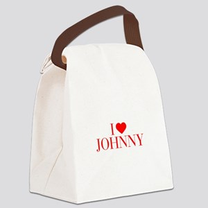 I love JOHNNY-Bau red 500 Canvas Lunch Bag