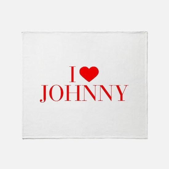 I love JOHNNY-Bau red 500 Throw Blanket
