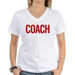 Coach (red) Women's V-Neck T-Shirt