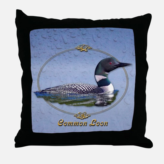 Commom Loon Throw Pillow