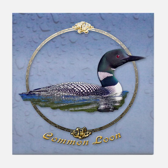 Commom Loon Tile Coaster