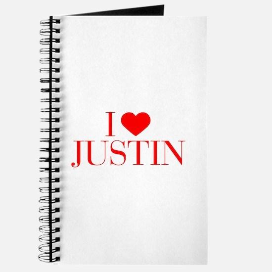 I love JUSTIN-Bau red 500 Journal