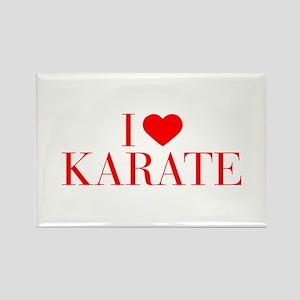 I love Karate-Bau red 500 Magnets