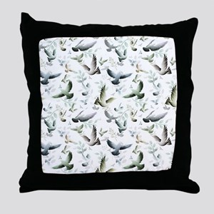 Flocked Together Throw Pillow
