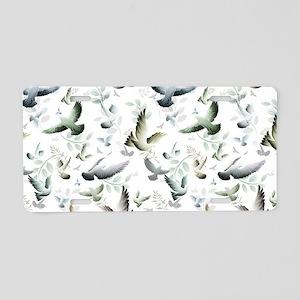 Flocked Together Aluminum License Plate