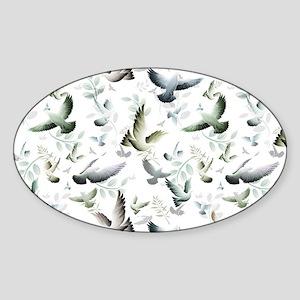 Flocked Together Sticker (Oval)