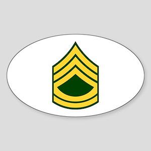 "Army E7 ""Class A's"" Oval Sticker"