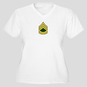 "Army E7 ""Class A's"" Women's Plus Size V-Neck T-Shi"