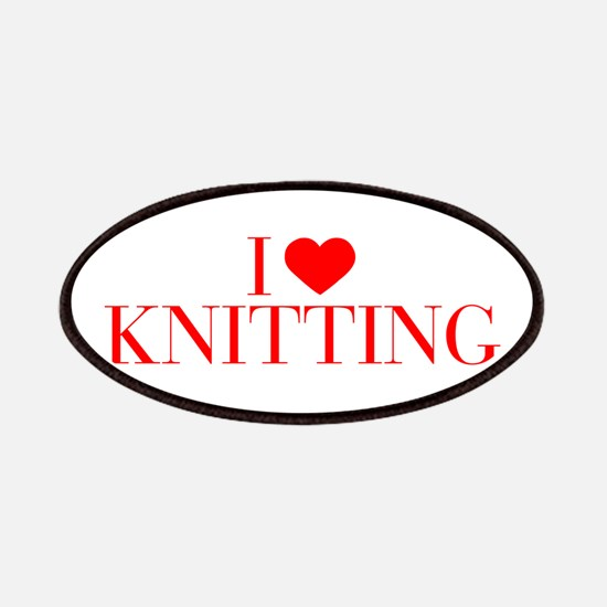 I love Knitting-Bau red 500 Patch