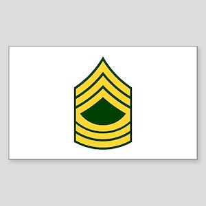 "Army E8 ""Class A's"" Rectangle Sticker"