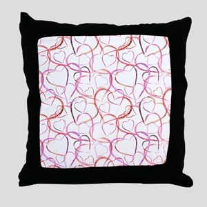 Empty Hearts Throw Pillow
