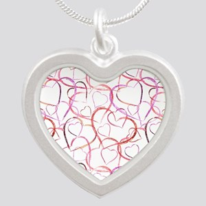 Empty Hearts Silver Heart Necklace