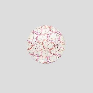 Empty Hearts Mini Button