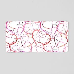 Empty Hearts Aluminum License Plate