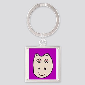 Cute Smile Cheeky Purple Hippo Vera's Fa Keychains