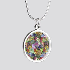 Egg Hunt Silver Round Necklace