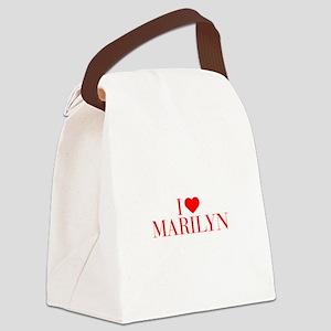 I love MARILYN-Bau red 500 Canvas Lunch Bag