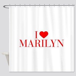 I love MARILYN-Bau red 500 Shower Curtain