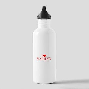 I love MARILYN-Bau red 500 Water Bottle