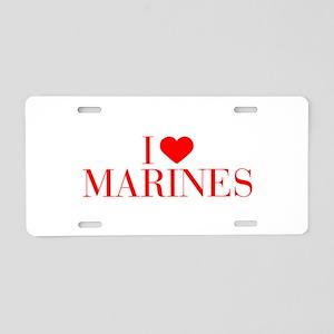 I love Marines-Bau red 500 Aluminum License Plate