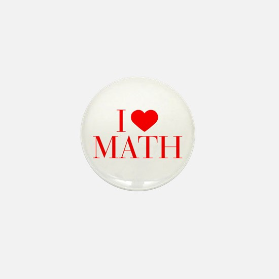 I love Math-Bau red 500 Mini Button