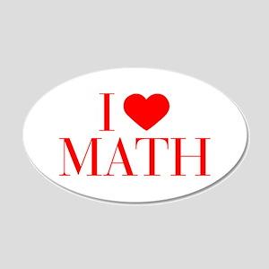 I love Math-Bau red 500 Wall Decal