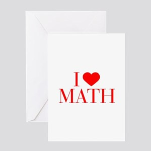 I love Math-Bau red 500 Greeting Cards