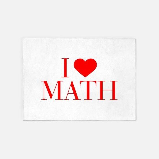 I love Math-Bau red 500 5'x7'Area Rug