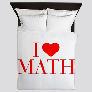 I love Math-Bau red 500 Queen Duvet