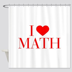 I love Math-Bau red 500 Shower Curtain