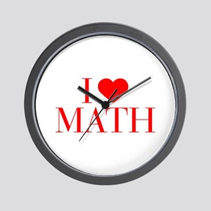 I love Math-Bau red 500 Wall Clock