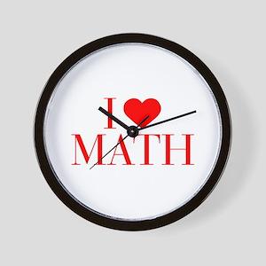 I love Math-Bau red 500 Wall Clock