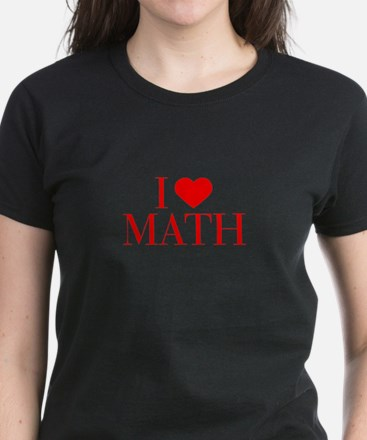 I love Math-Bau red 500 T-Shirt