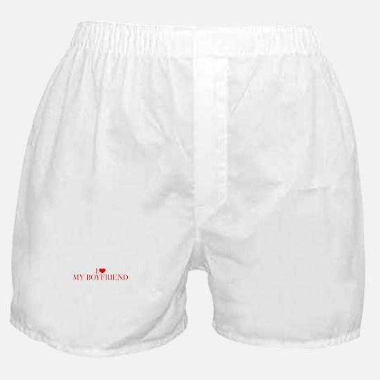 I love My Boyfriend-Bau red 500 Boxer Shorts