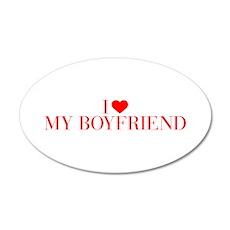 I love My Boyfriend-Bau red 500 Wall Decal