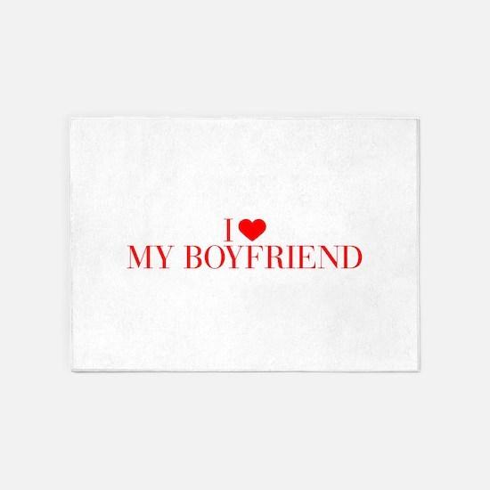 I love My Boyfriend-Bau red 500 5'x7'Area Rug