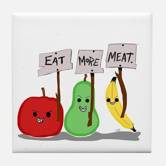 Eat More Meat Tile Coaster