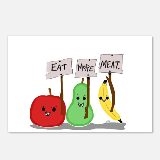 Eat More Meat Postcards (Package of 8)