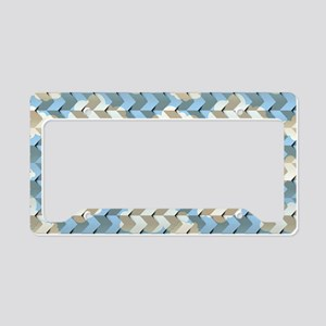 Cloudy Origami License Plate Holder