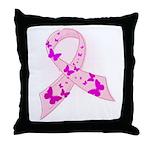 Pink Ribbon Throw Pillow
