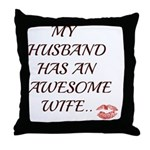 AWESOME WIFE Throw Pillow